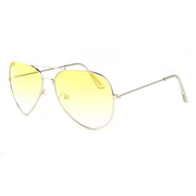 Slnečné okuliare pilotky Aviator Žlté
