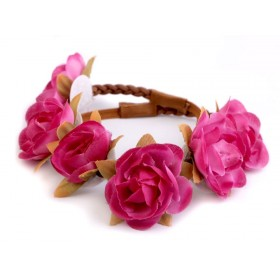 Květinová čelenka s růžičky Fuchsie
