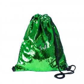 ArtOfPolo sťahovací vak s flitrami Zelený