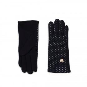 ArtOfPolo dívčí rukavice s medvídkem Černé