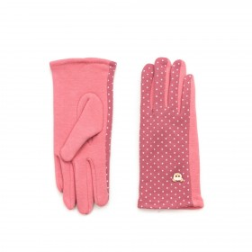 ArtOfPolo dívčí rukavice s medvídkem Růžové