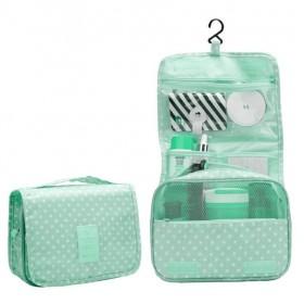 Travel Toaletní cestovní taška Zelený puntíky