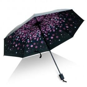 Dámský skládací deštník Růžové květy