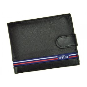 Always Wild pánska kožená peňaženka Black Line