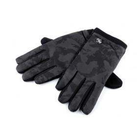 Pánské maskáčové zateplené rukavice Čierne