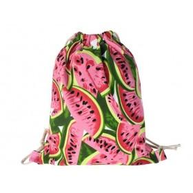Plátený sťahovací batoh s potlačou Melón