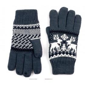 ArtOfPolo Unisex rukavice so sobom Šedé