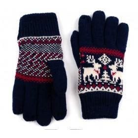 ArtOfPolo Unisex rukavice so sobom Modré