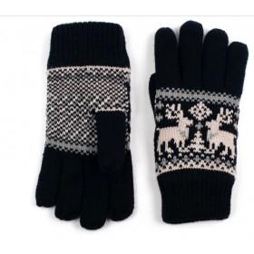 ArtOfPolo Unisex rukavice so sobom Černé