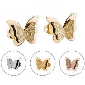 Náušnice - na puzetu z chirurgickej ocele Motýle