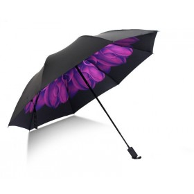 Dámský skládací dáždnikFialové kvety