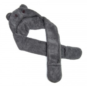 Zvieracia čiapka so šálom Medvedík šedý