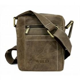 Always Wild pánska kožená taška Taupe