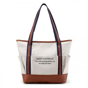 Dámská plátěná kabelka Happy Free - béžová