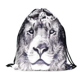 Plátený vak s 3D potlačou Biely lev