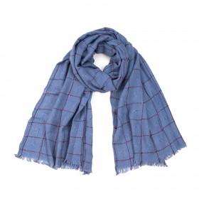 ArtOfPolo pánský karovaný šál Modrý
