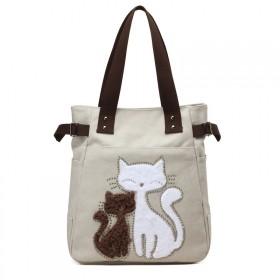 Dámska plátená kabelka Street Cats - bežová