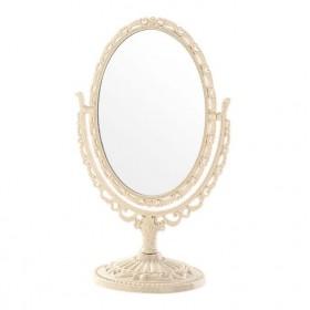 Vintage Zrkadlo obojstranné kozmetické otočné