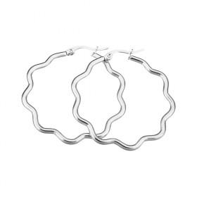 Geometrické náušnice z chirurgickej ocelei Vlnky