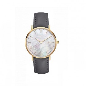 Classy dámske hodinky s opálovým odleskom Šedé