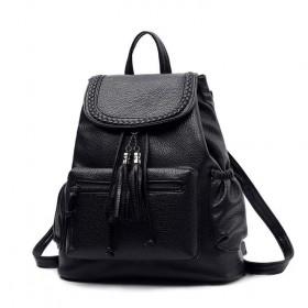 Malý batôžtek so strapcom - Čierny