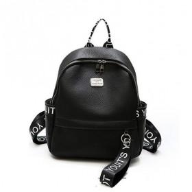 Čierny koženkový batôžtek Hermish