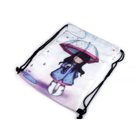 Dievčenský sťahovací batoh V daždi