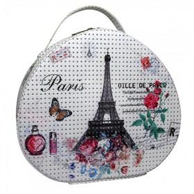 BMD kosmetický kufrík Ovál PARIS s kryštálmi