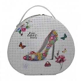 BMD kosmetický kufrík Ovál PARIS s kryštálmi Love to Story