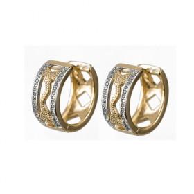 Kruhové náušnice z chirurgickej ocele AUDREY zlaté