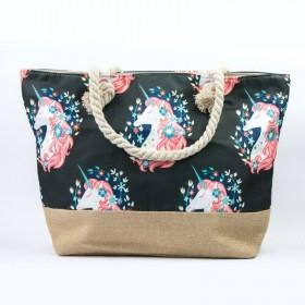 Plážová aj nákupná taška Jednorožec