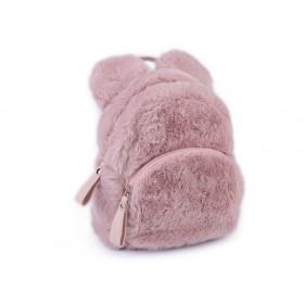 Dievčenský stredný chlpatý batôžtek Medveď Ružový