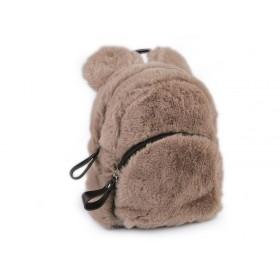 Dievčenský stredný chlpatý batôžtek Medveď Hnedý