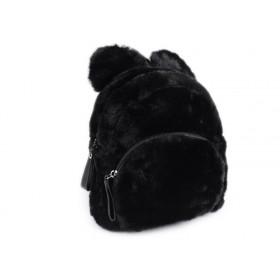 Dievčenský stredný chlpatý batôžtek Medveď Čierny