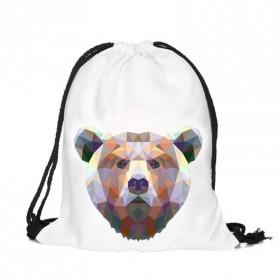 Plátený vak s 3D potlačou Medveď