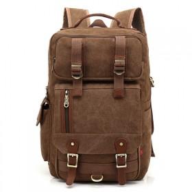 Kaukko plátený ruksak Unbreakable- Hnedý