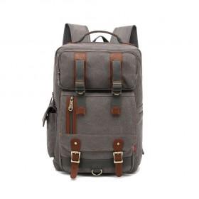 Kaukko plátený ruksak Unbreakable - Šedý