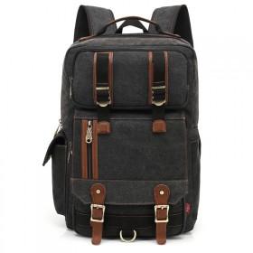 Kaukko plátený ruksak Unbreakable - Čierny