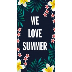 Plážový uterák 170x90cm LOVE SUMMER
