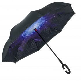 Dámsky palicový obojstranný dáždnik Vesmír