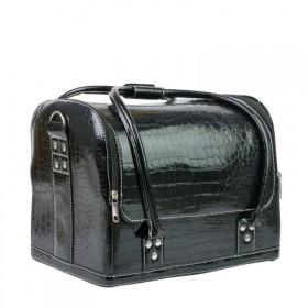 Luxusná taška pre kozmetiku MODEL 01 Čierny krokodíl