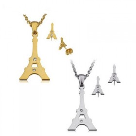Súprava šperkov z chirurgickej ocele Eiffelovka