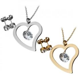 Súprava šperkov z chirurgickej ocele Srdce