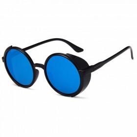 Okrúhle slnečné okuliare Round Blue zrkadlovky