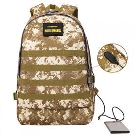 Batoh s USB portom Military camouflage