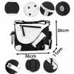 Unisex crossbody taška cez rameno Black and White