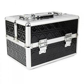 Kozmetický kufrík pre laky aj LED lampu Čierny