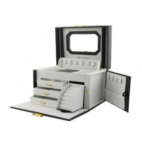 Stenberg Luxusný kufrík na šperky ETUI Čierny