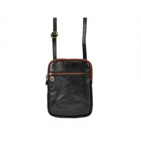 Gregorio pánska kožená taška Čierna