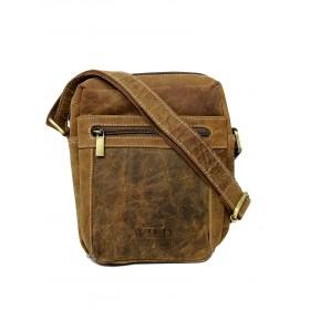 Always Wild pánska kožená taška Ryan Hnedá